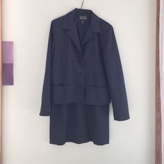 Gap Navy Suit Gap navy suit with jacket and skirt, navy with small white dots, size 10. Smoke free home. GAP Other