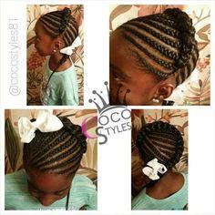 cornrows for little girls Cute Little Girl Hairstyles, Little Girl Braids, Baby Girl Hairstyles, Natural Hairstyles For Kids, Kids Braided Hairstyles, African Braids Hairstyles, Braids For Kids, Girls Braids, Cute Hairstyles
