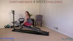 Total Body Transformation: Chest, Abs, and Back 4 Week Challenge – Week 1 - Total Gym Pulse Total Gym Workouts, At Home Workouts, Workout Exercises, Body Exercises, Cardio, Fitness Facts, Fitness Tips, Fitness Challenges, Gym Fitness