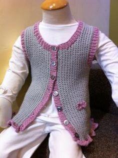 Child's Knitted Rib Vest