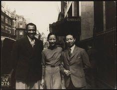Actor, Singer, Scholar, ActivistPaul Robeson, actressAnna May Wongand opera singerMei Lanfangstanding in front of Claridge's hotel in London in 1935.