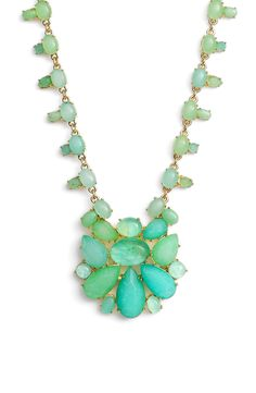 So eye-catching! This necklace from Kate Spade features a mermaid-worthy assortment of lustrous mother-of-pearl and swirling abalone cabochons.