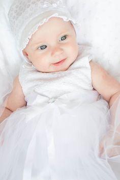 Gabrysia, little girl, white