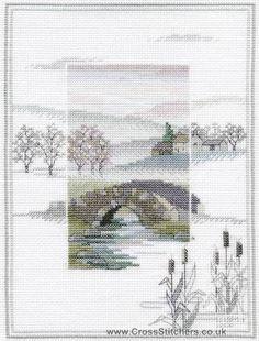 Winter Bridge - Misty Mornings - Cross Stitch Kit by Derwentwater Designs