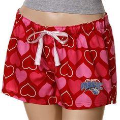 Orlando Magic Ladies Red Candy Hearts Boxer Shorts $16.95