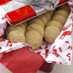 Eggnog Snickerdoodles Recipe from Taste of Home -- They have a lovely eggnog flavor and look great with their crunchy tops.