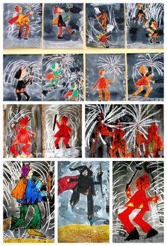 CAPGROSOS Pels volts del 24 de setembre, Barcelona torna a estar de Festa Major com a últim esclat abans de la tardor. Una de les pri... San Antoni, Fire Works, Bonfire Night, Painting For Kids, Saints, Projects To Try, Playing Cards, Color, Popular