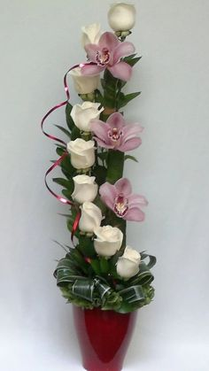 Dekorace * krásná vazba tulipánů a orchidejí ♥♥♥
