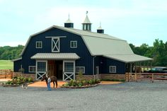 Morton dual barn home. Love this idea! no animals on the other side though...Blake's shop!