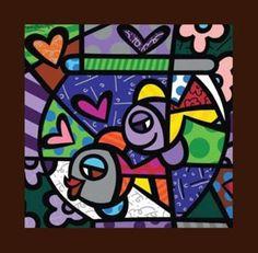 Romero Britto e la sua arte neo-pop Pintura Graffiti, Graffiti Painting, Arte Pop, Pop Art, Classroom Art Projects, Arte Country, Mural Art, Cubism, Art Plastique