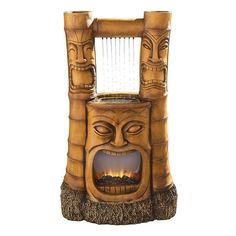 Tiki Gods of Fire and Water Fountain DESIGN TOSCANO tiki fountain god of god
