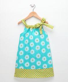 HippoHula Teal Daisy Hailey Dress