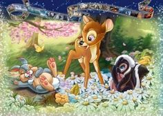 Image of product Ravensburger 19677 - Bambi - 1000 pieces jigsaw puzzle