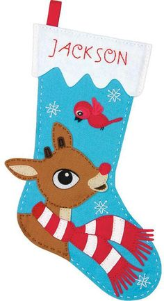 Rudolph The Red-Nosed Reindeer Christmas Stocking