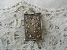 Art nouveau french souvenir book pendant depose by Nkempantiques, €45.00