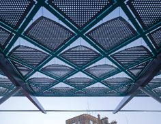 steel diagrid canopy detail - Google Search