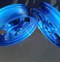 Motorcycle gas tank powdercoated with a translucent dark ...