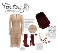 """""""Snowy date night"""" by aniee92 ❤ liked on Polyvore featuring Jolie By Edward Spiers, Dolce&Gabbana, Maglie I Blues, Halston Heritage, Talbots, David Yurman and Anne Sisteron"""