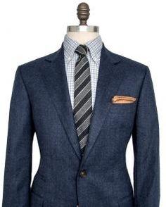 Image of Brunello Cucinelli Cobalt Pin Dot Suit