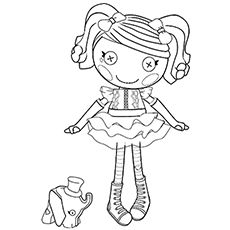 lalaloopsy coloring pages free printables - Lalaloopsy Coloring Pages Mittens