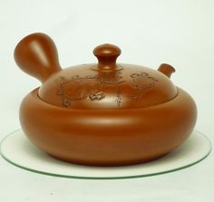 Japanese antque teapot with turtle on the lid, more than 30 years ago. Turtle is simbol of long-ilfe.