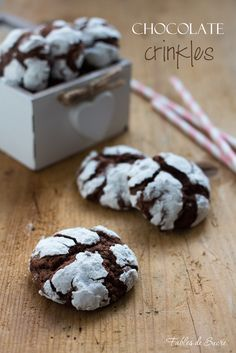 Biscotti screpolati - chocolate crinkles