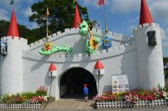 Clark's Elioak Farm where fairy tales and nursery rhymes come to life. Enjoy the petting farm and enchanted forest.