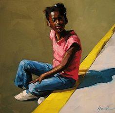 "Daily Paintworks - ""Georgia Girl"" - Original Fine Art for Sale - © Karin Jurick"