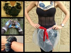 Our member Eco Amor makes upcycled clothes and accessories from scrap materials.  Gloucestershire Resource Centre http://www.grcltd.org/scrapstore/