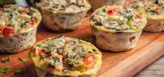 Flavor Combination Ideas for Bariatric Patients' High Protein Egg Muffin Cups - Flavor Combination Ideas for Bariatric Patients' High Protein Egg Muffin Cups. No Dairy Recipes, Baby Food Recipes, Great Recipes, Sugar Free Desserts, Frozen Desserts, Janta Low Carb, Vegetable Muffins, Egg Muffin Cups, Easy To Make Breakfast