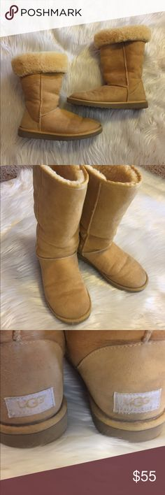 UGG AUSTRALIA 5815 Classic Tall Tan Boots Size 8W UGG AUSTRALIA 5815 Classic Tall Tan Leather / Sheepskin Boots Women's US 8w UGG Shoes Winter & Rain Boots