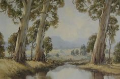 Australian Painting, Yarra Valley, Landscape Paintings, Porcelain, Trees, Art, Art Background, Porcelain Ceramics, Kunst