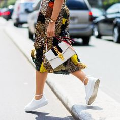 3 Fashion-Girl Outfits To Wear With Sneakers |  How To Style Sneakers Spring 2017 @thezoereport