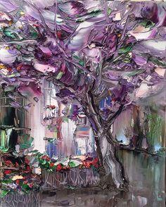 Violet wind, oil on canvas,  www.georgipetrov.com
