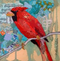 collage - paper painting  elizabethsthilairenelson.blogspot.com