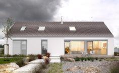 Ekonomiczny 1B - wizualizacja 2 - Mały tani w budowie dom z antresolą