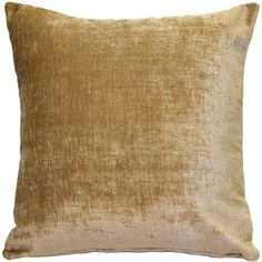 The Venetian Velvet Golden Brown Pillow is wonderfully soft, with a texture that feels half chenille and half velvet, but a luster that is all velvet!