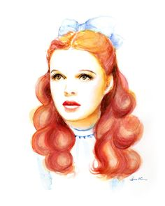 Watercolor portrait - Dorothy Judy Garland on Etsy, $20.00