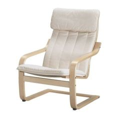 Wooden poang ikea chair with white cover - have one of these, probably want another one