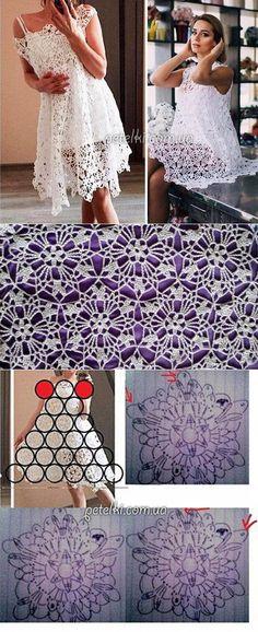 Fabulous Crochet a Little Black Crochet Dress Ideas. Georgeous Crochet a Little Black Crochet Dress Ideas. Crochet Bodycon Dresses, Crochet Summer Dresses, Black Crochet Dress, Crochet Blouse, Crochet Motif, Crochet Shawl, Crochet Lace, Crochet Patterns, Simple Crochet