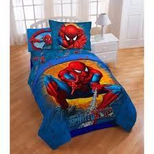 Spiderman Twin/Full Size Comforter with 3pc Bed Sheet Set From Disney