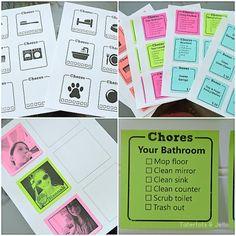 chore chart printables at tatertots and jello