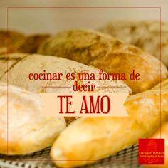 """""""Cocinar es una forma de decir Te Amo"""" #Frase #Expresión #Amor #Inspiración"""