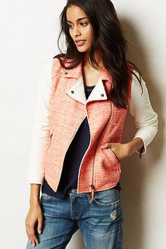 Blushed Tweed Moto Jacket #anthropologie #anthrofave