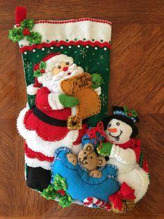 Bucilla hecha a mano de 18 media de la Navidad