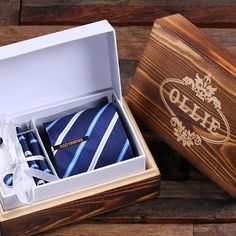 Hey, I found this really awesome Etsy listing at https://www.etsy.com/listing/257177411/personalized-tie-clip-tie-and-wood-box