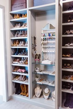 Flat shoe shelving (instead of slanted) so that you're not always fighting gravity to put your shoes away.
