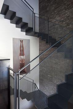 Diseño de escaleras  #malla #metálica
