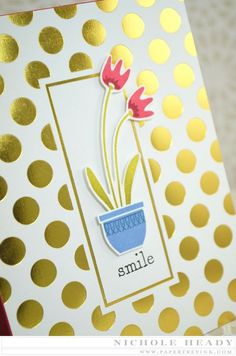 Smile Card by Nichole Heady for Papertrey Ink (February 2015)