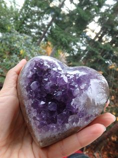 ~BREATHTAKING LARGE PUFFY AMETHYST DRUZY LOVE HEART CARVING~ AVAILABLE In the SHOP HERE--->